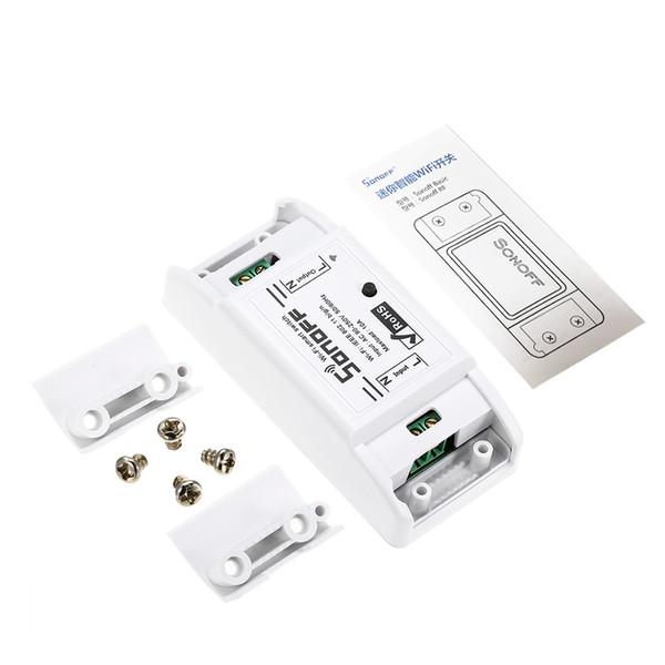 SONOFF Wireless Wifi Switch App Módulo de Relé de Automação de Controle Remoto para Apple Android Smartphones 10A 220 V Funciona com Alexa