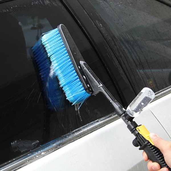 Durable Car Wash Brush Auto Exterior Retractable Long Handle Water Flow Switch Foam Bottle Car Cleaning Brush