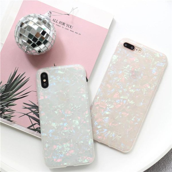 2018 Hot Sale Glitter Phone Case For iPhone 7 8 Plus Dream Shell Pattern Cases For iPhone X 8 7 6 6S Plus Soft TPU Silicone Back Cover DHL