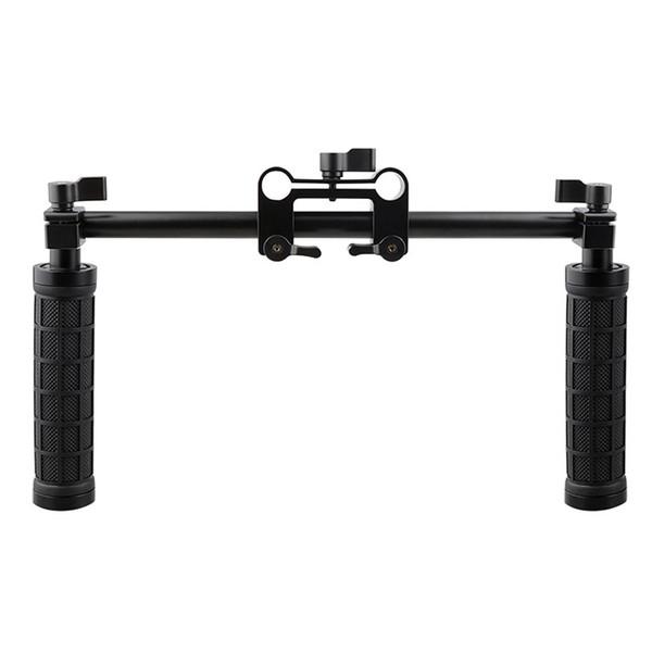 CAMVATE Kamera Griff Grip 15mm Rod Clamp Unterstützung Schiene System DSLR Schulter Rig Studio Foto Zubehör C1049
