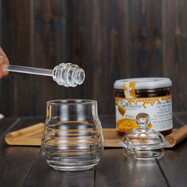 High-grade frasco de mel tempero de vidro de cristal frasco de vidro de agitação admissão 290 ML car candy dispenser Container CL1108052