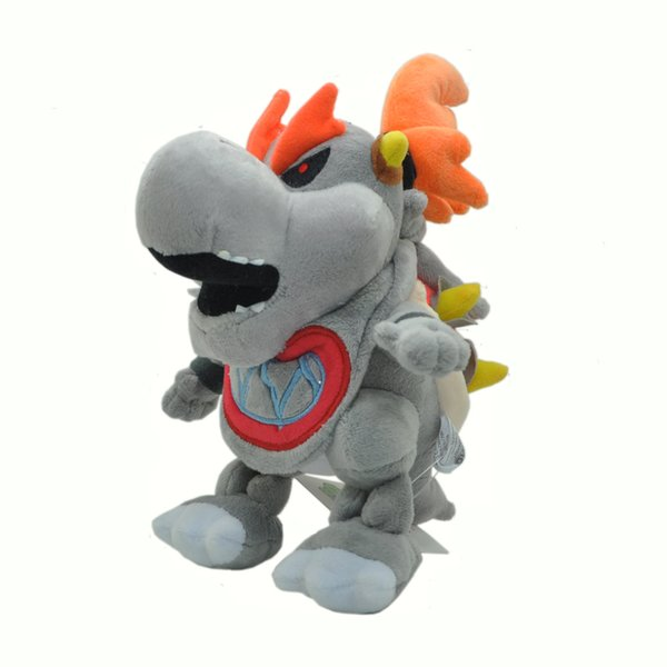 "Hot New 7"" 18CM Super Mario Bros Dry Bowser Plush Doll Anime Collectible Soft Party Gifts Stuffed Best Toys"