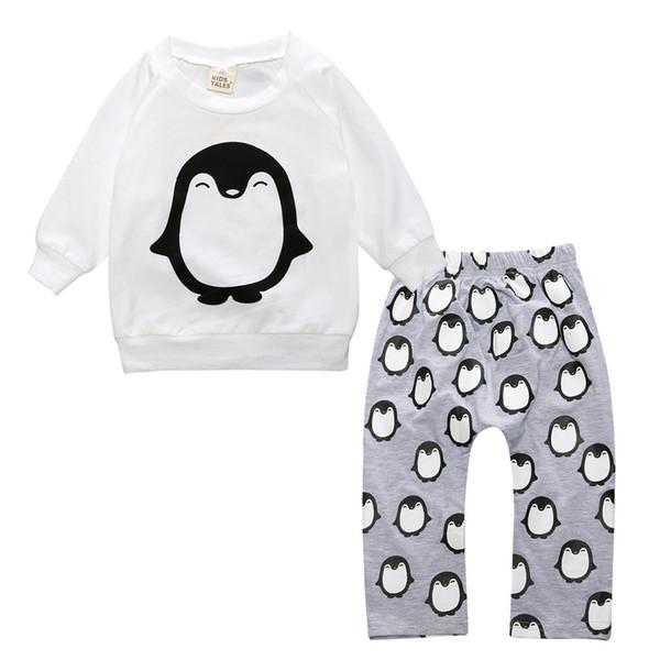 2017 heißer Verkauf Baby Kleidung Sets Baumwolle Volle T-shirt + hose Frühling Herbst Kinder Jungen Outfits Kleinkind Trainingsanzug Infant Mädchen Kleidung