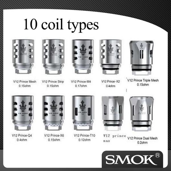 top popular 100% Authentic Smok TFV12 Prince dual Triple max mesh coils head V12 prince coils X2 Q4 M4 x6 T10 coil head 2021