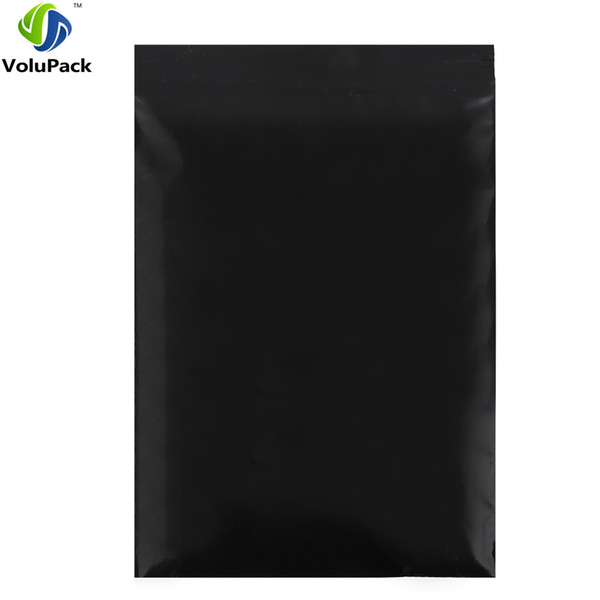 Wholesale 100pcs/lot Black poly repacking pouch Flat three side seal mini zip lock plastic pouches packaging bags 20x30cm