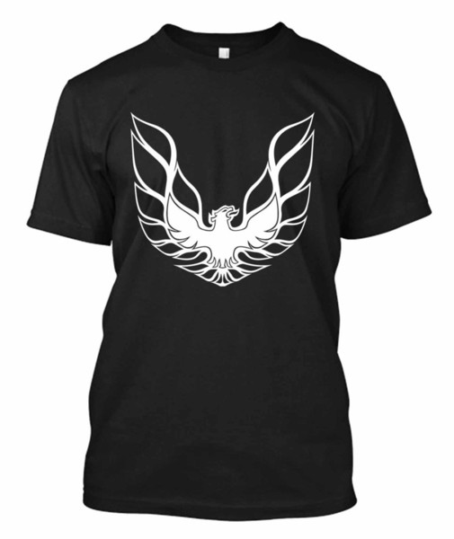 Fashion Men Tshirt The Pontiac Firebird Muscle Car - Custom Men's Black T Shirt Tee 100% Cotton Short Sleeve