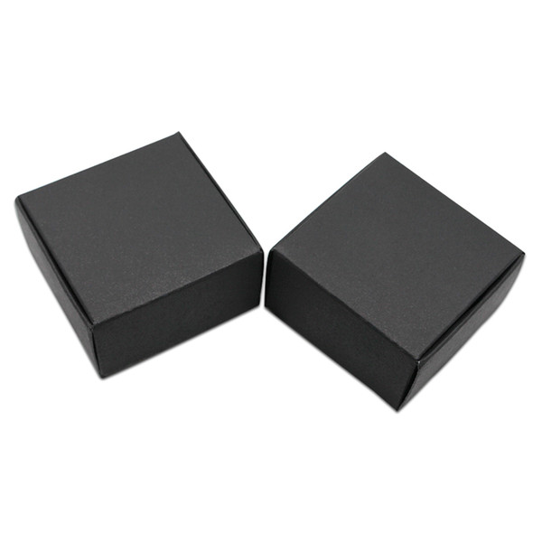 50Pcs/lot 9.5*9.5*3cm Square Black White Brown Kraft Paper Handmade Soap Crafts Package Box Carton Paper Candy Snack Pack Box