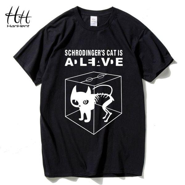 Pamuk erkek Moda Tişörtleri Schrodinger's Kedi Büyük Patlama Teorisi Pamuk Kısa Kollu O-Boyun Tops Tees Yaz T-shirt