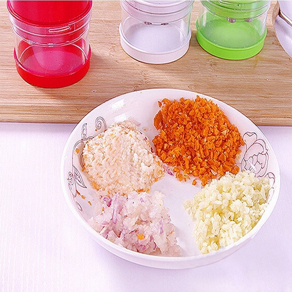 Kitchen Tools Multi -Functional Hand Chopper Plastic Garlic Presses Fruit Salad Vegetable Onion Chopper Cutter Garlic Grinding Kitchen Hand