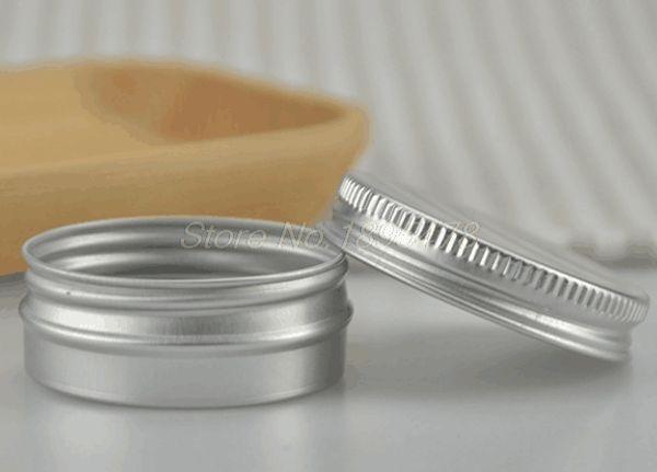 200PCS 30g barattolo di alluminio 30ml barattolo di crema di metallo 1oz sier contenitore di metallo in alluminio tin metallo