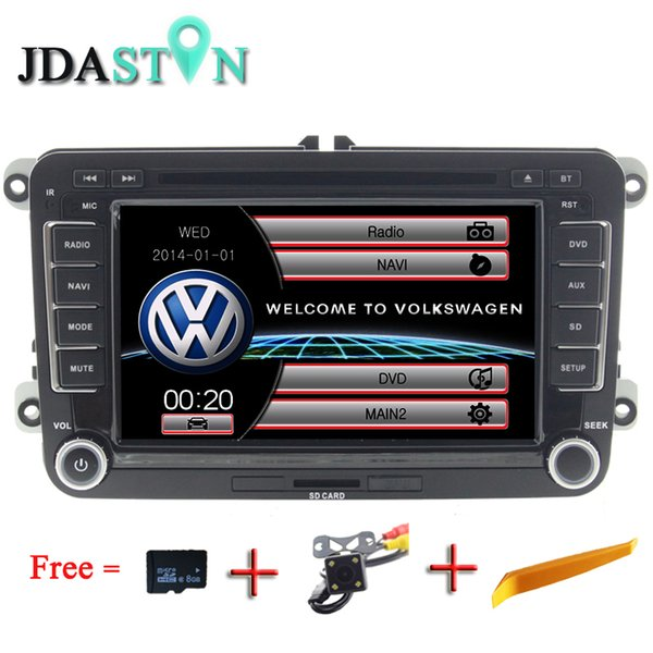 JDASTON Car Multimedia player Autoradio 2 Din DVD Player Audio For VW Golf 6/5 Passat b7/cc/b6 SEAT leon Tiguan  Octavia GPS