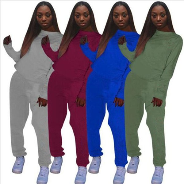 women two piece outfits hoodie leggings tracksuits warm winter fall autumn long sleeve sweatshirts sweat pants sportswear wholesale lhyg