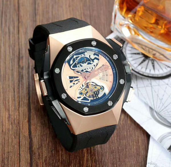 Top Selling Luxury Watch Special Men Rubber Band Stainless Steel Automatic Mechanical T Men Men's Watch Watches B3