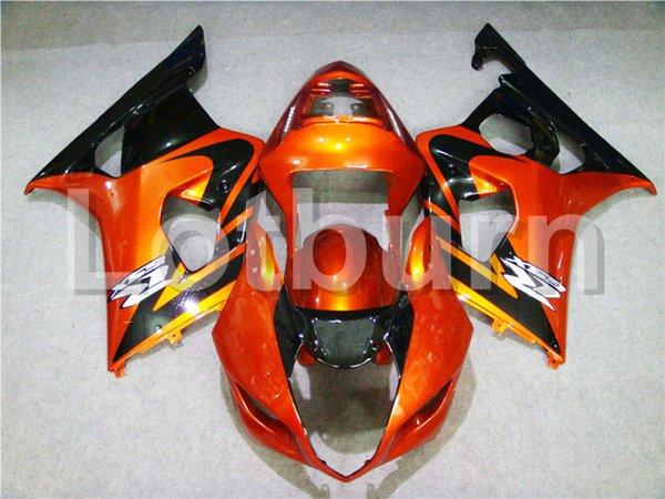 Kit de carenado naranja Moto adecuado para Suzuki GSXR GSX-R 1000 GSXR1000 K3 2003 2004 03 04 Carenados de motocicleta por encargo Inyección A280
