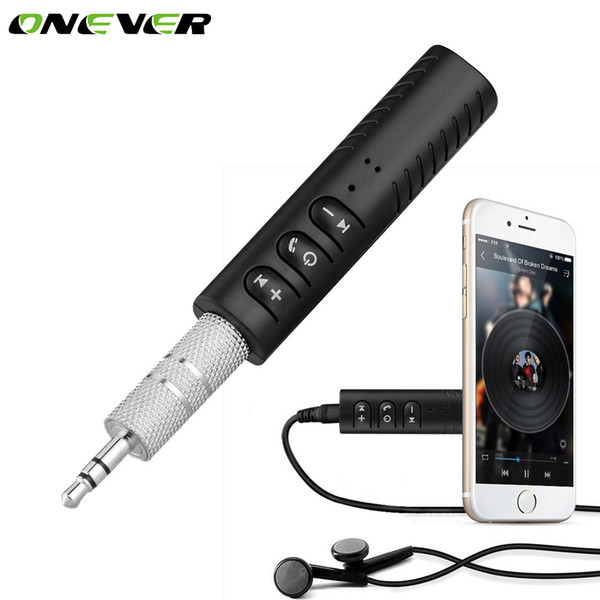 Onever Universal 3,5 mm Klinke Freisprecheinrichtung Musik Audio Empfänger Drahtlose Bluetooth Car Kit Auto AUX Adapter für Lautsprecher Kopfhörer Auto