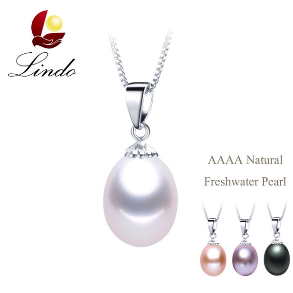 Hot Selling Classic 4 Colors Natural Freshwater Pearl Pendant Necklace 925 Silver Jewelry with Gift Box