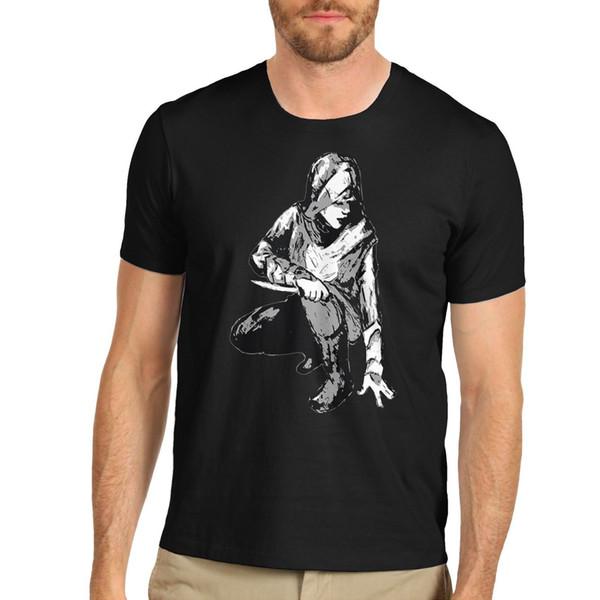 O t-shirt do gráfico do assassino dos homens da inve camiseta
