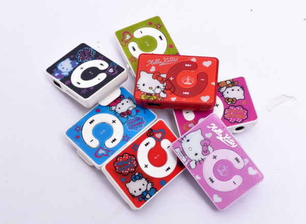 ola kitty mp3 mini clipe usb mp3 player suporte suporte 2/4/8/16 micro cartão micro sd / tf