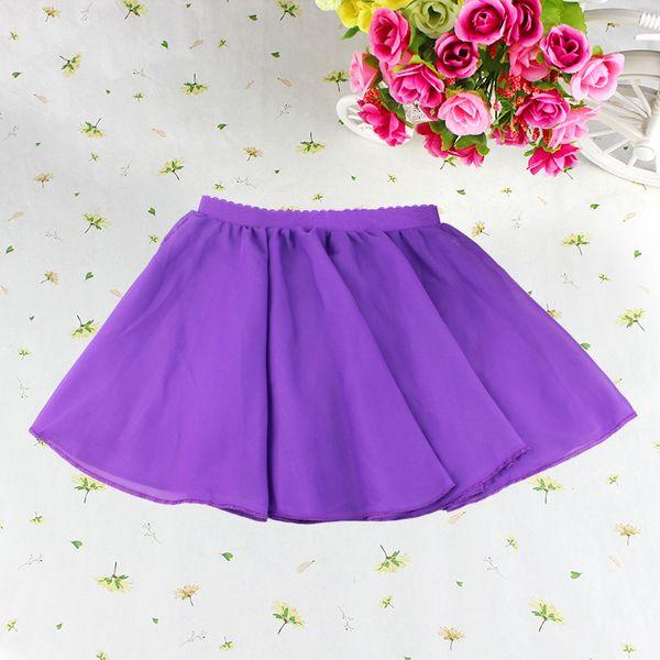 New Arrival Pink 6 Colors Elastic Waistband Pull On Chiffon Baby Girls Kid Tutu Skirt Pettiskirts Party Ballet Dance Tulle Skirt