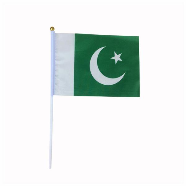 hot sale Promotional flying flag,free shipping custom Pakistan hand held flags,14*21 cm Pakistan flag