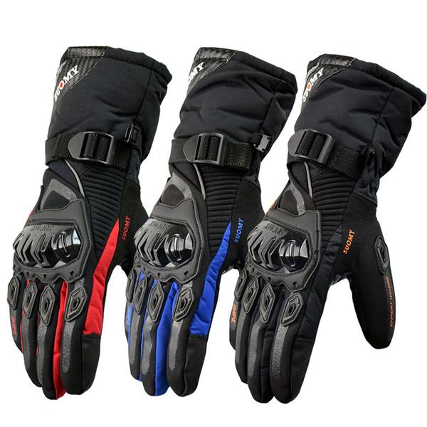2017 neue Hochwertige Touchscreen 100% Wasserdichte Guantes Moto Luvas Motorrad Handschuhe Winter Warme Winddichte Schutzhandschuhe