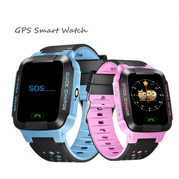 GPS Rracker Children Smart Watch 1.44 Inch Touch Screen With Flashlight SOS Anti Lost GSM Phone Setracker APP