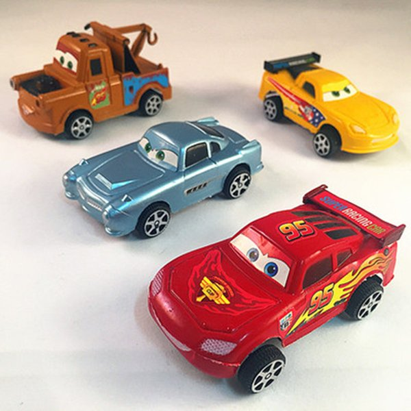 4PCS Die casts Set An inertia car Alloy Back Model Car Suit Baby Children Toy Hot Wheels Machines Kids Toys