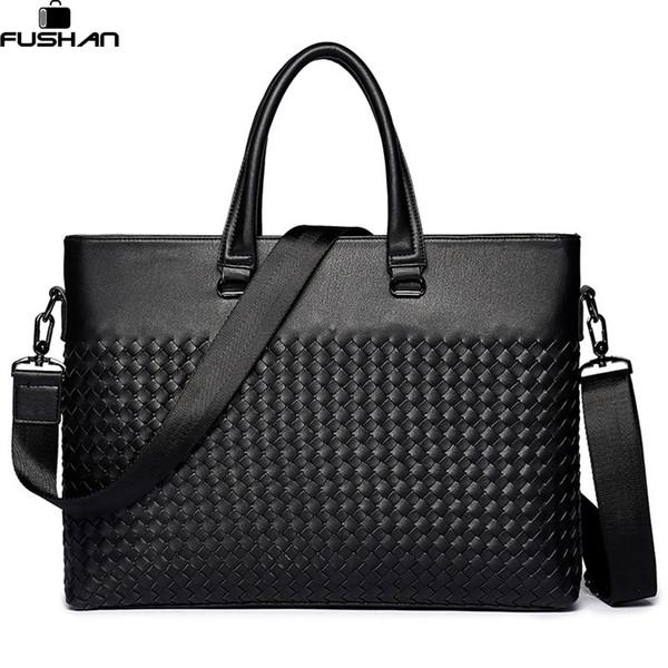 Young fashion Men Laptop Bag Shoulder Bags Business Men's Leather Tote Bag for Men Messenger bags Mens Handbags New Briefcase