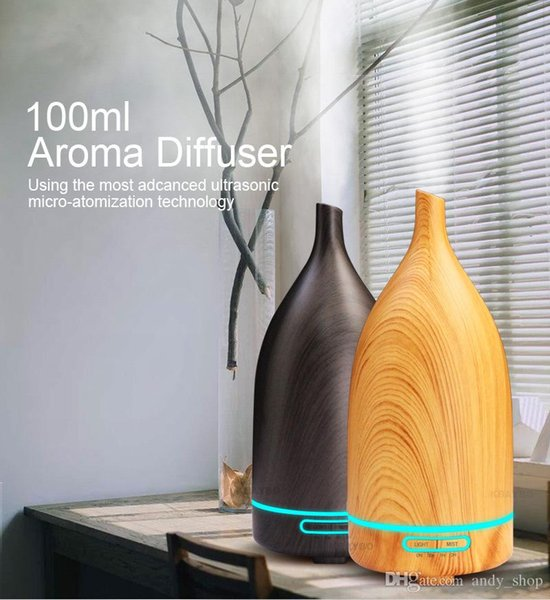 100ml Wooden Sake Bottle Humidifier Ultrasonic Aroma Diffuser DC24V Household Essential Oil Diffuser EU UK US Plug