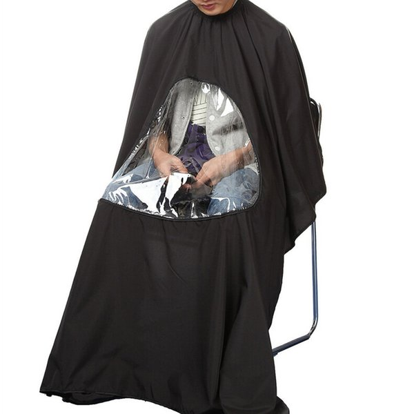 1Pc Hot Black Professional Salon Barber cape Hairdresser Hair Cuing Gown cape Waterproof Cloth for barber Apron