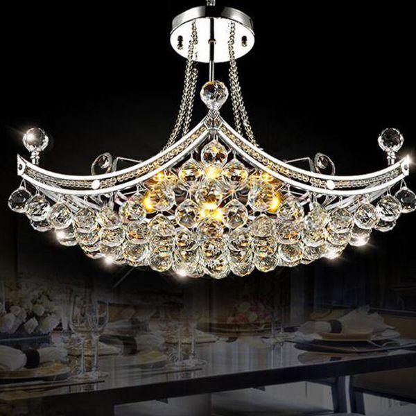 Modern Luxury Luxury Chandelier Lighting Fixture Colgante de luz de cristal Lustres de cristal para la sala de estar Dormitorio Lámpara de techo
