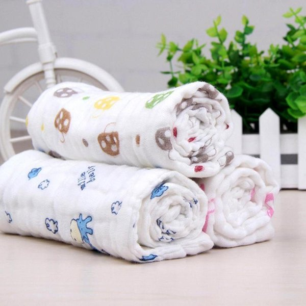 Wash Cloth Baby Diaper Reusable Muslin Gauze Clorful Printed Soft Nappy Liners 0-12M Infant Girl Boy No Fluorescence 2017 XV2