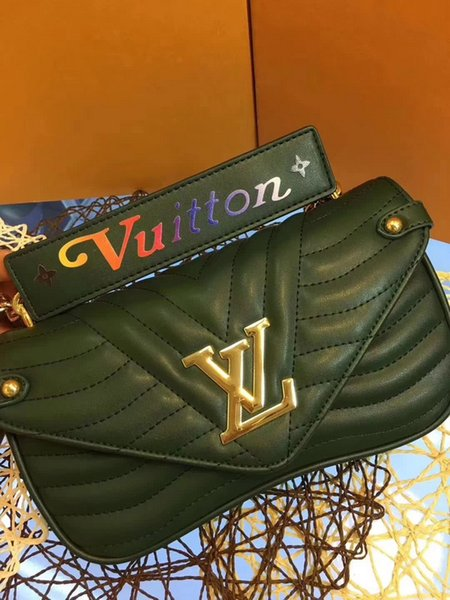 2019 M51943 NEW WAVE CHAIN BAG MM Dark green Embroidered CHAIN Shoulder Bags Hobo HANDBAGS TOP HANDLES BOSTON CROSS BODY MESSENGER SHOULDER