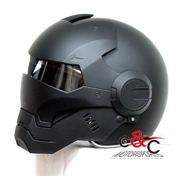 Kostenloser Versand The Iron Man Helme Masei Schädel Helm Vintage Motorradhelme capacete moto helmet bettern