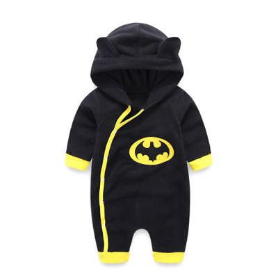 top popular 0-24M Newborn Baby Boys Winter Hooded Romper Jumpsuit Warm Cotton Clothes Outfits 2020