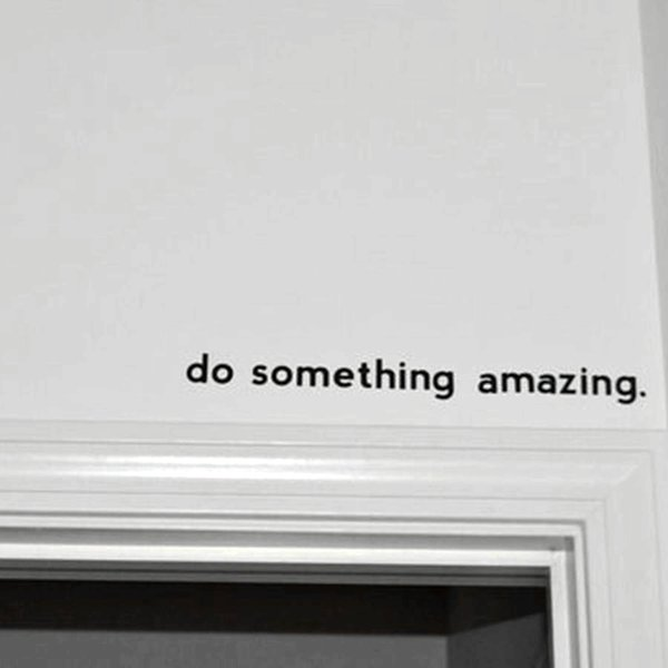 sticker phone Free shipping Inspirational quote decal - Do Something Amazing.. Over the Door Vinyl Wall Decal Sticker Art , 45cm J2057