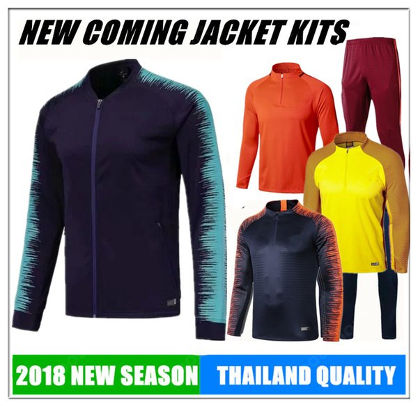 2018 hoodies JACKET Training KITS outfits Tracksuits jersey INIESTA O.DEMBELE PIQUE SOCCER FOOTBALL calcio fútbol messi SWEATER new