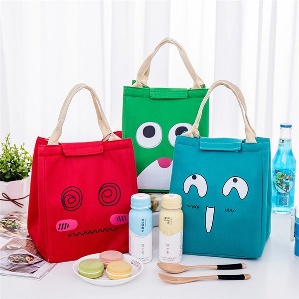 Picnic Bags For Outdoor Camping Lunch Boxes Insulated Cooler Box Tote Waterproof Thermal Lunch Bags Cute Expression Storage
