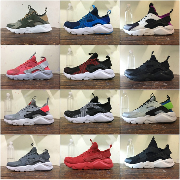 Discount Huarache Run 4.0 Running Shoes mens womens Black Red Blue Grey Color matching Lightweight designer Sport Sneakers