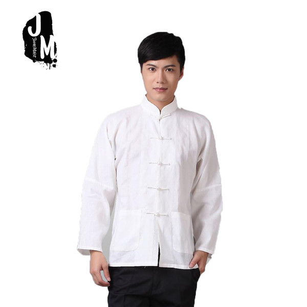 Plus Size XXXXL Long Sleeve Man Tang Suit Traditional Chinese Clothes Tang Suit Top Men  Uniform Outfit Clothing For Men