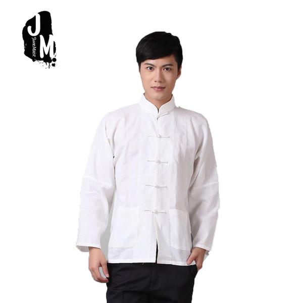 Plus Größe XXXXL Langarm Mann Tang Anzug Traditionelle Chinesische Kleidung Tang Anzug Top Männer Kung Fu Uniform Outfit Kleidung Für Männer