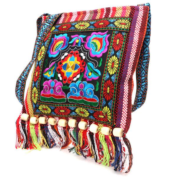 Hmong vintage cinese stile nazionale borsa a tracolla etnica ricamo boho hippie nappa tote messenger per le donne di alta qualità