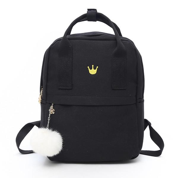 Women Backpack for School Teenagers Girl Vintage Stylish School Bag Ladies Canvas Fabric Backpack Female Bookbag Mochila