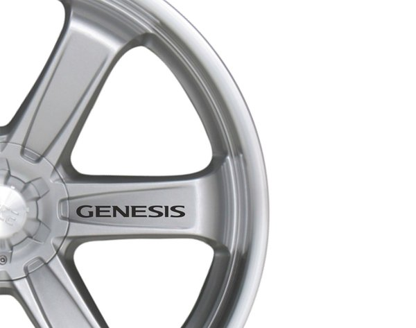 For 6x Car Alloy Wheel Sticker fits Hyundai Genesis Decal Sticker Adhesive PT22
