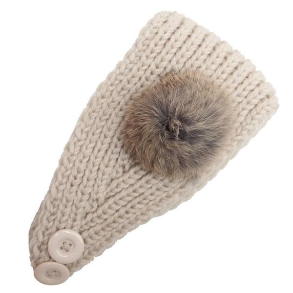 2018 New Fashion Women Knitting Hairball Headband Handmade Keep Warm Hairband hot sale Jan 27