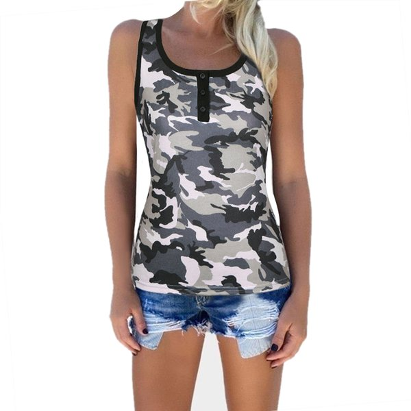 T-shirts For Women Camouflage Printed Camo T Shirts Vest Army O Neck Female T-shirt Summer Casual Loose Coon Tees