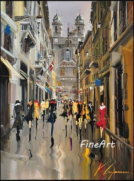 100% handmade painting art wholesale discount impression paris street scenery oil painting wall decor quotes oil wall art unique gift
