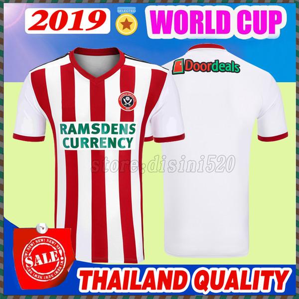 Acheter 2018 2019 Sheffield United Domicile Maillots Version Thaïlandaise Qualité 18 19 Sheffield United Soccer Maillot De Bain Chemises D'extérieur