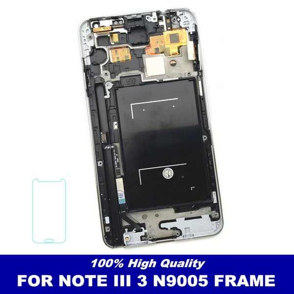 With Frame Bezel Control Brightness LCDs For Samsung Galaxy Note3 Note 3 N9005 LCD Display Touch Screen Digitizer Replacement