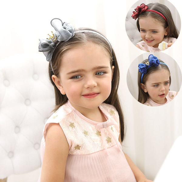 Free Shipping Kids Headbands Infants Hair Headbands Hair Bows Sticks for Girls 2017 Fashion Kids Baby Double Bows Headwear Hairs Accessories